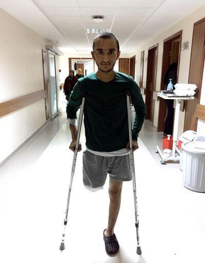 Kayseri gazisinin bacağı ikinci kez kesildi
