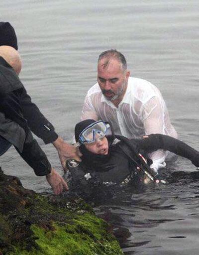 Fenalaşan dalgıcı belediye başkanı kurtardı