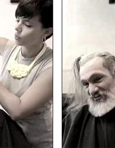 Evsiz bir adam olarak girdiği kuaförden George Clooney olarak çıktı