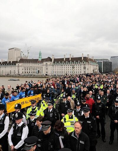 Londra saldırısı sonrası dayanışma programı