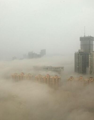 Çin'de hava kirliliği turuncu alarma dayandı