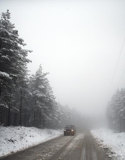 Düzce'de yüksek kesimlerde kar sürprizi