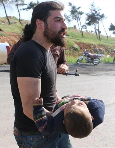 Suriye'deki kanlı saldırıdan yürek burkan kareler