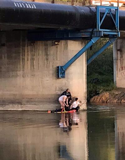 Sakarya Nehri'ne atlayan genç kızı AFAD kurtardı