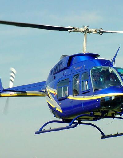 Yemek siparişini almaya helikopterle gitti