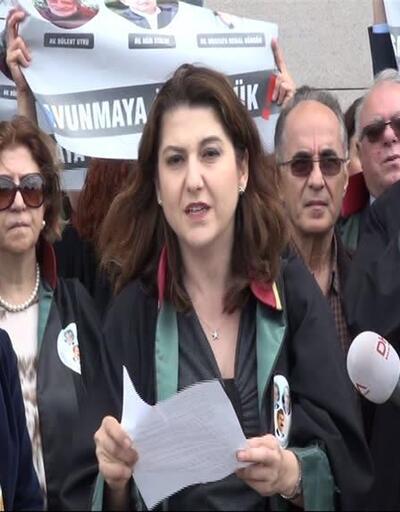 Cumhuriyet'in tutuklu avukatları için 'Adalet Nöbeti'