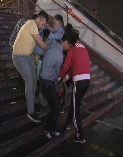Engelli asansörü gece kapatılınca gazi mahsur kaldı