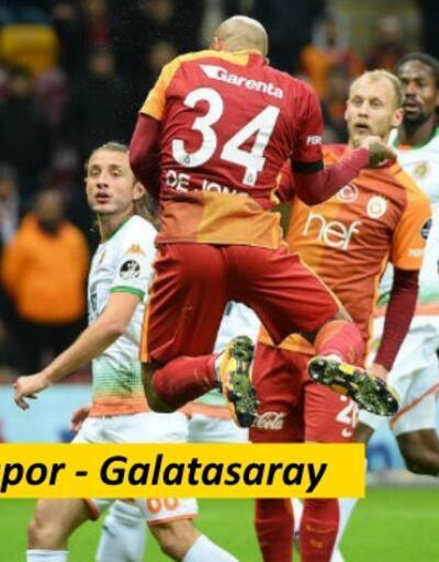 Alanyaspor-Galatasaray maçı izle (33. Hafta Kapanış)