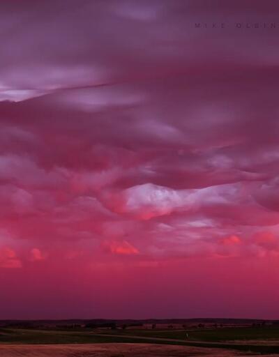 Fırtına fotoğrafçısından muhteşem bir gün batımı videosu