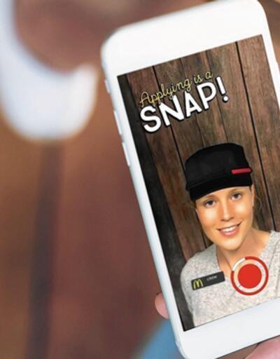 McDonalds Snapchat üzerinden 250 bin kişiyi işe alacak