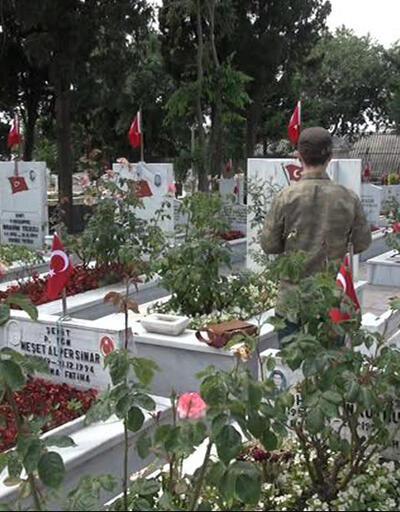 Edirnekapı Şehitliği'nde arife günü hüzün vardı