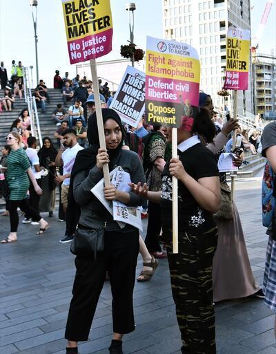 Londra'da İslamofobi'ye karşı gösteri düzenlendi