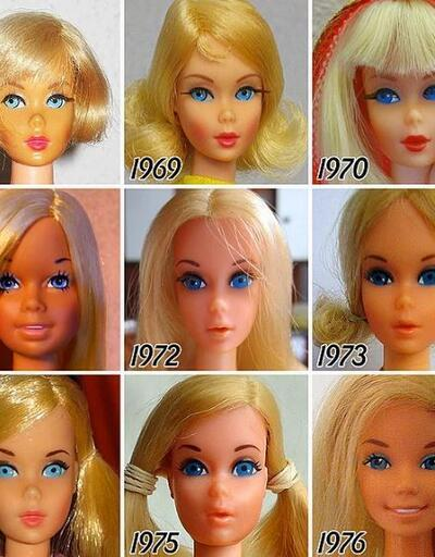 Barbie bebeğin 58 yıllık inanılmaz değişimi