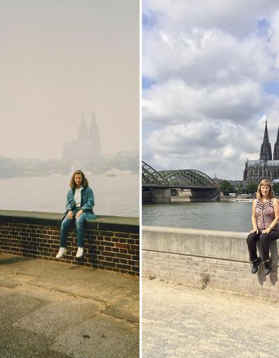30 sene sonra aynı yerlerde fotoğraf çektirdi