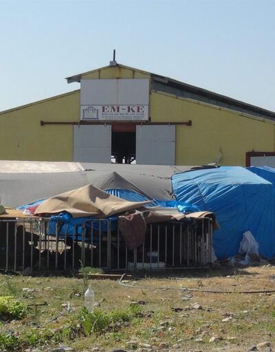 İflas eden tesis, Suriyeli göçmenlerin barınma alanı oldu