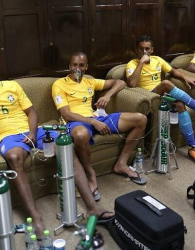 Brezilyalı futbolculara maç sonrası oksijen verildi