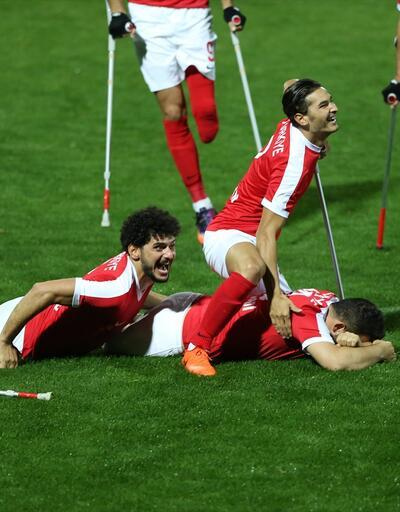 Son dakika: Ampute Milli Futbol Takımı finale yükseldi