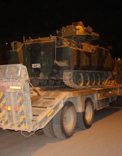 Irak sınırına tank sevkiyatı yapıldı