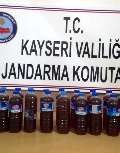 Kayseri'de sahte rakı operasyonu