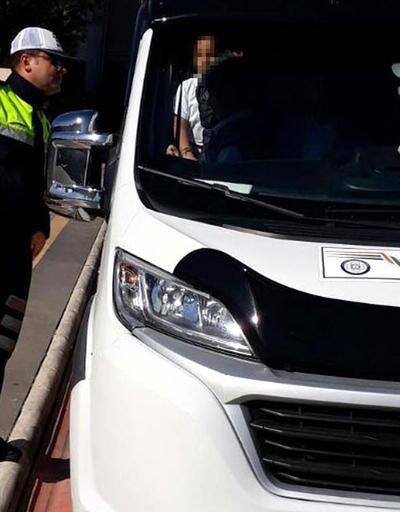 Okul servisi şoförü ehliyetsiz çıktı
