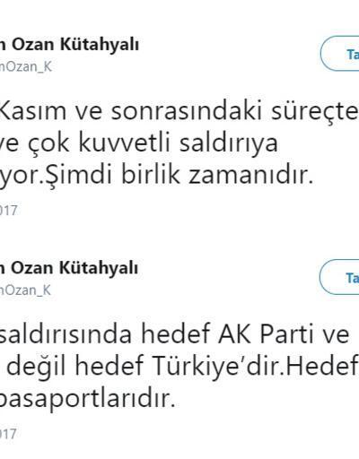 Rasim Ozan Kütahyalı'dan yeni açıklama