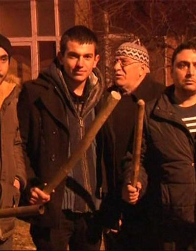 Kayseri'de eli sopalı nöbet