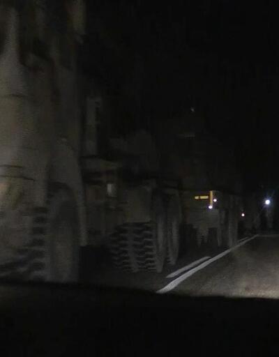 Suriye sınırına askeri sevkiyat: 6 obüs yüklü TIR ve zırhlı personel taşıyıcı takviyesi
