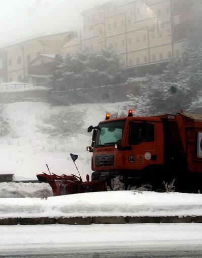 Erciyes Dağı'nda gece sıcaklık eksi 17 derece oldu