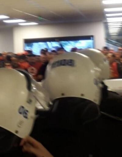 Çankaya Belediyesi'nde oturma eylemi yapan işçilere polis müdahalesi