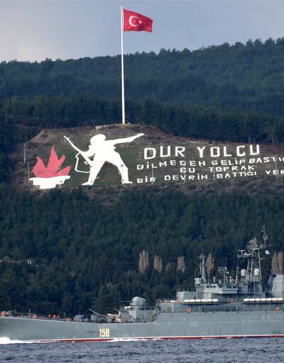 Suriye'ye giden Rus gemisi Çanakkale Boğazı'ndan geçti