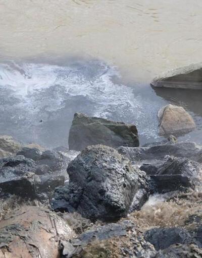 Kimyasal atık Sakarya Nehri'ni siyaha bürüdü