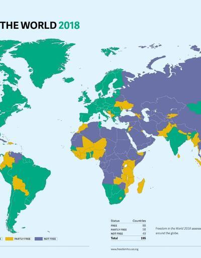 Freedom House raporu: Türkiye ilk kez 'özgür olmayan' ülkeler arasında