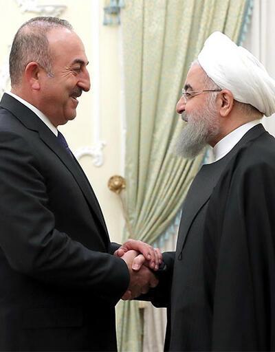 Çavuşoğlu, Ruhani ve Zarif ile görüştü
