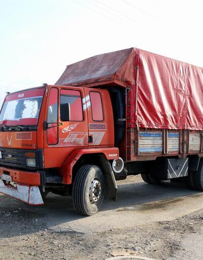 Erzincan'da durdurulan kamyonda şok manzara