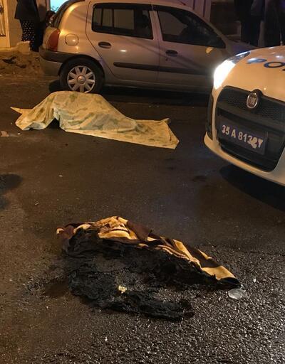 İzmir'de sokak ortasında bir kadın yanarak can verdi