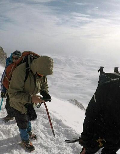 Gazeteciler Erciyes'e tırmandı