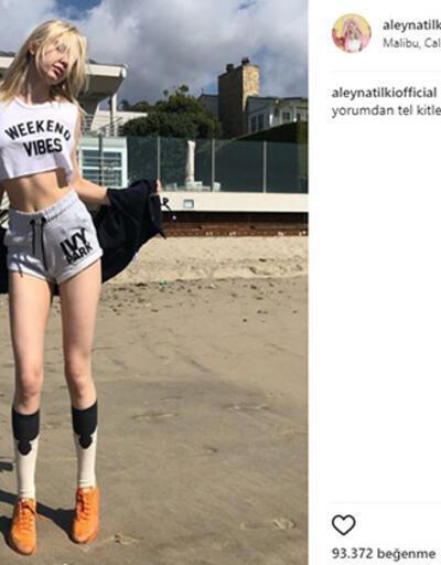 Aleyna'nın sahil fotoğrafı sosyal medyayı salladı
