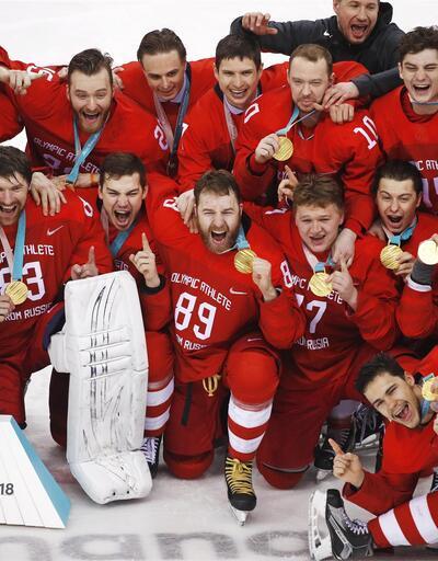 Buz hokeyinde Almanya'yı altın golle yenen Rusya şampiyon