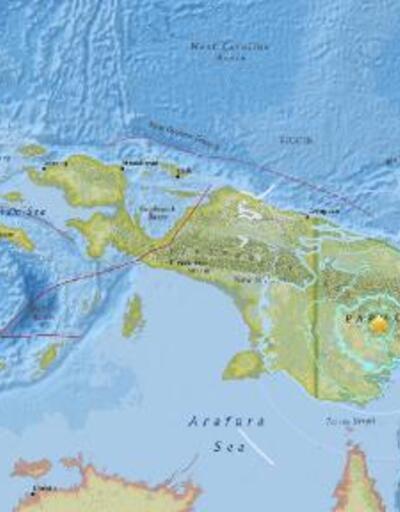 Papua Yeni Gine'de 6.0 büyüklüğünde deprem