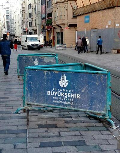 İstiklal Caddesi'nde yine tamirat var