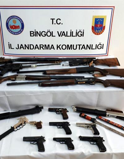 Bingöl merkezli silah kaçakçılığı operasyonu: 11 gözaltı