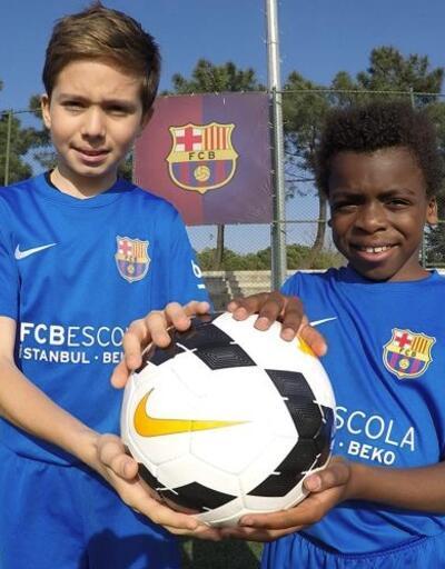 Rüştü Reçber, Ali Koç ve Kameni'nin çocukları Barcelona'da