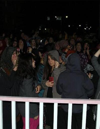 Tokat'ta kız öğrenci yurdunda yemekhane protestosu