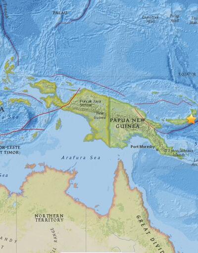 Papua Yeni Gine 6.9 ile sarsıldı