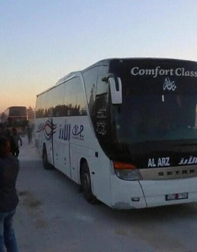 Muhalifler El Bab'a konvoylarla böyle girdi