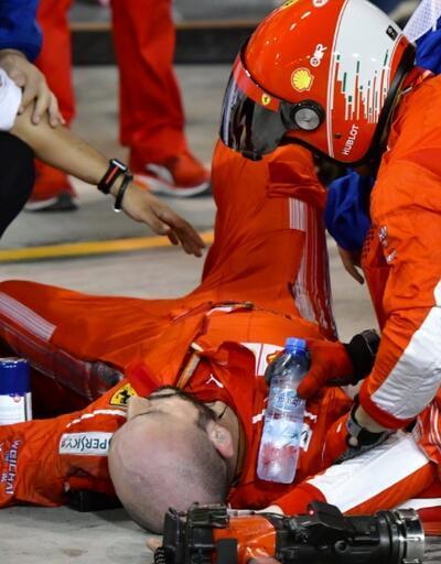Formula 1'de feci kaza! Arkadaşının bacağını ezdi