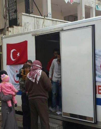Türk sağlık personeli Afrin'de: 2 günde 301 hasta muayene edildi