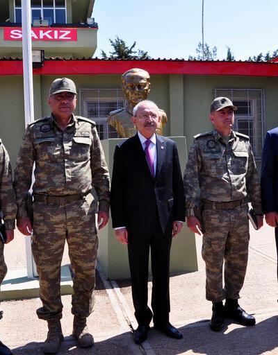 Kılıçdaroğlu Hudut Karakolu'nu ziyaret etti
