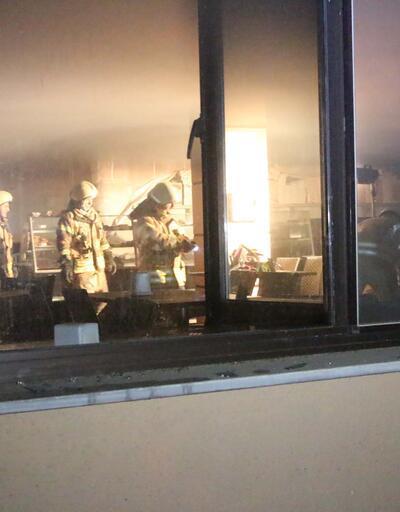 Hastane kafeteryasında yangın paniği