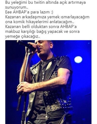 Haluk Levent, AHBAP için konserde giydiği yeleğini 25 bin liraya sattı